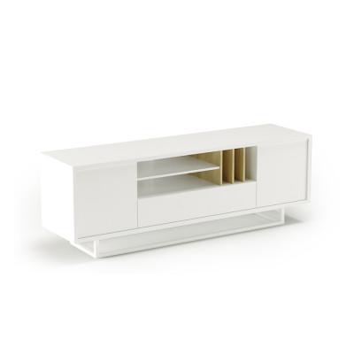 TV-Ständer Lowbo M | Weiß Flach