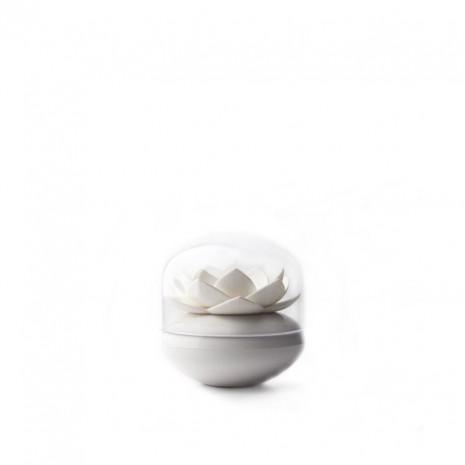 Porte-coton Lotus   Blanc