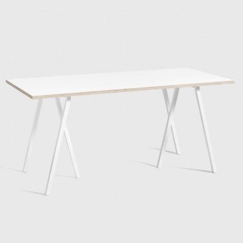 Schleifenständer-Tisch   Weiß