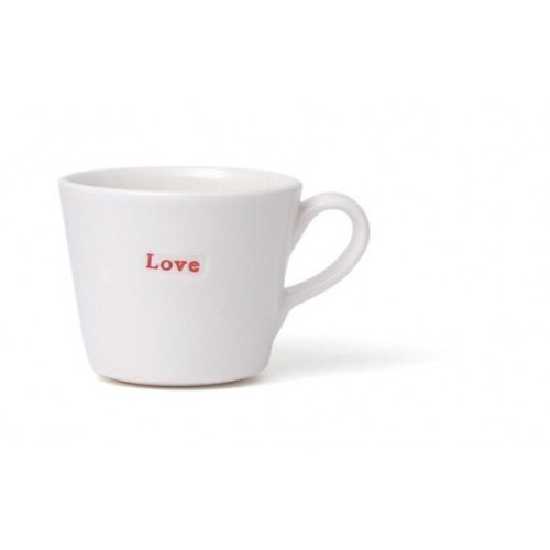 """Set of 2 Expresso Cups """"Love"""""""