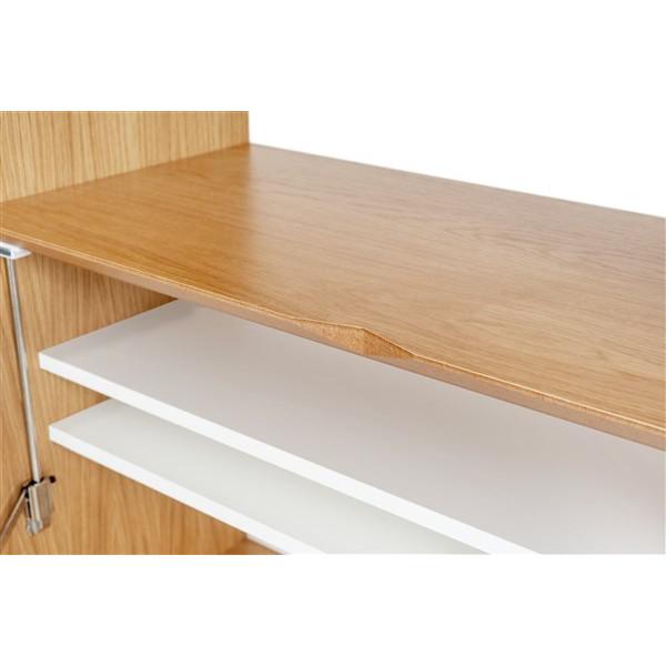 Schreibtisch Loma | Weiß-Eiche