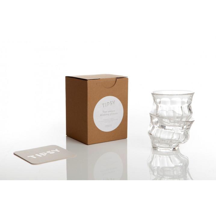 Tipsy Classic 25 cl - Schachtel mit 2 Gläsern | Klar