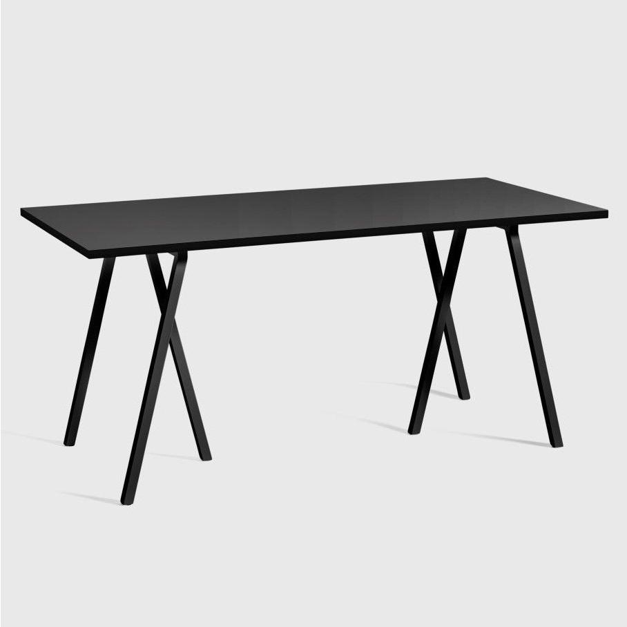 Schleifenständer-Tisch   Schwarz