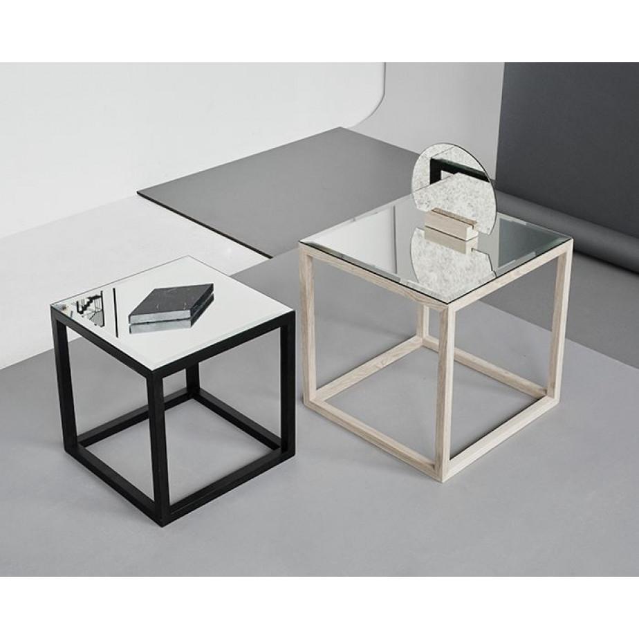 Cube Mirror Table | Oak