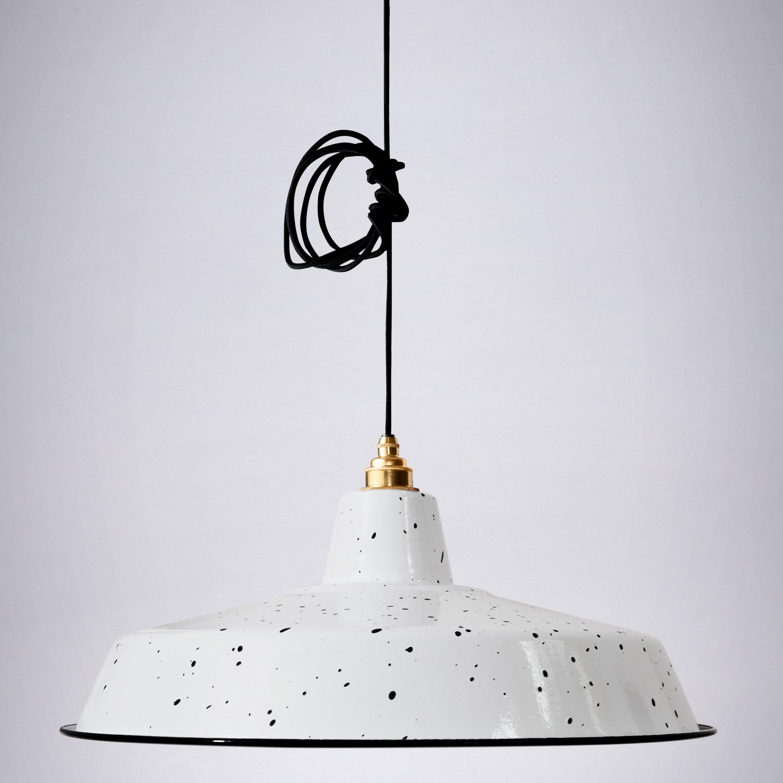 Lampenschirm Classic   Weiß & Schwarz gesprenkelt