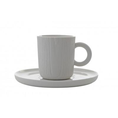 Espressotasse mit Untersetzer MU | Weiß