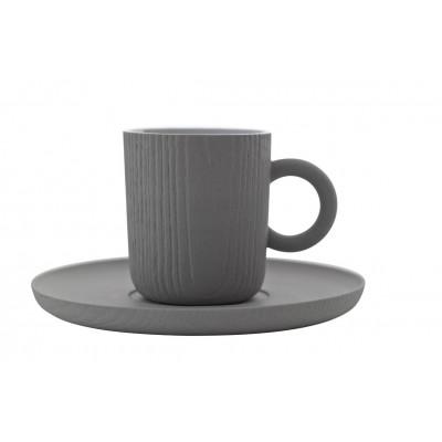 Espressotasse mit Untersetzer MU | Grau