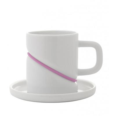Tasse mit Untersetzer Rubber Band