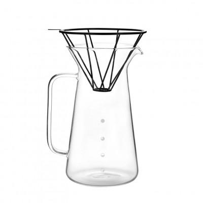 Set Kaffeekaraffe Schwarz | 600 ml