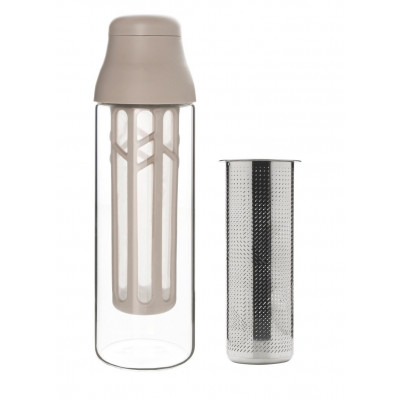 Flasche mit Sieb für Kaffee & Tee SCENE 1 L | Grau