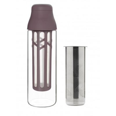 Flasche mit Sieb für Kaffee & Tee SCENE 1 L | Plum