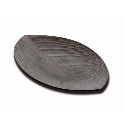 Serviertablett-Blatt | Dunkles Holz