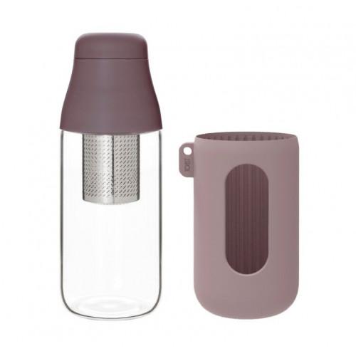 Flasche mit Teesieb SCENE 500 ml | Plum