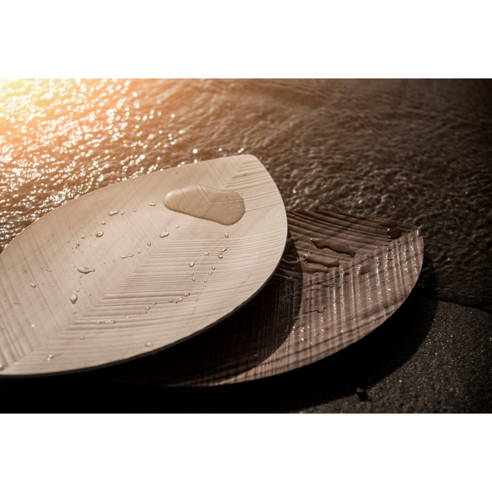 Serviertablett-Blatt | Helles Holz