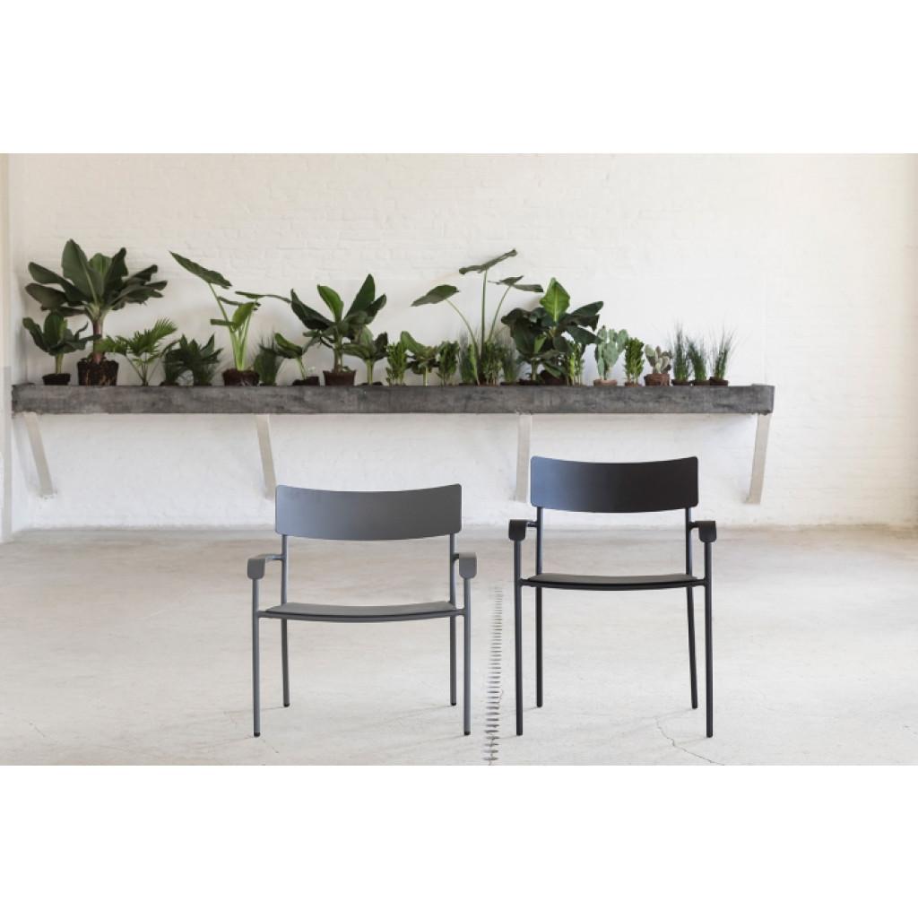 Lounge-Stuhl mit Armlehnen August | Grau