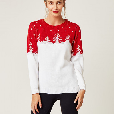 Christmas Sweater   White & Red