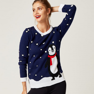 Christmas Sweater   Snowman Navy