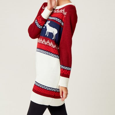 Christmas Sweater   Red & White