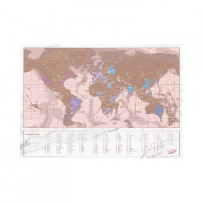 Rubbelkarte - Rose Gold Reise-Edition