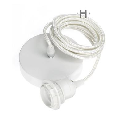 Hang Power Cord for Pendant Light   White