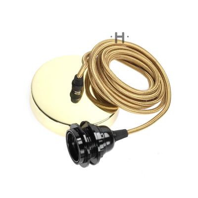 Hang Power Cord for Pendant Light   Brass