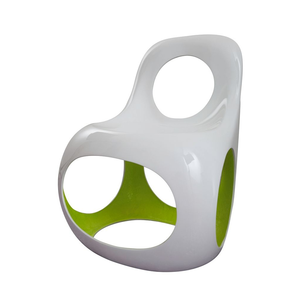 Kan Chair White/Olive