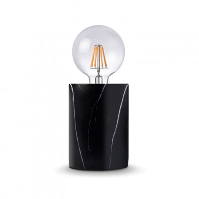 Lampe Thomas   Schwarzer Marmor