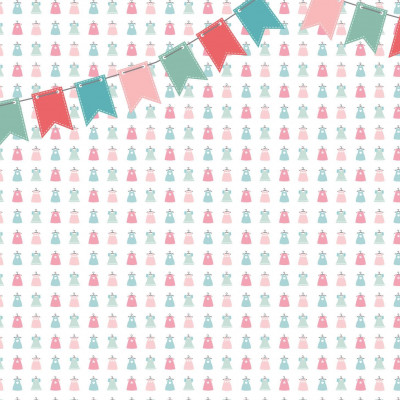 Wallpaper Dresses with Flags | Pink Green
