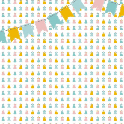 Wallpaper Dresses with Flags | Pink Yellow