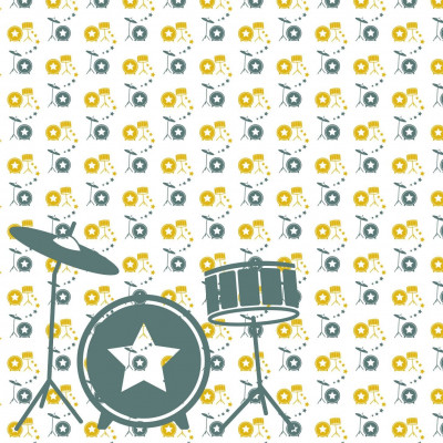 Wallpaper Music with Drum | Yellow Green