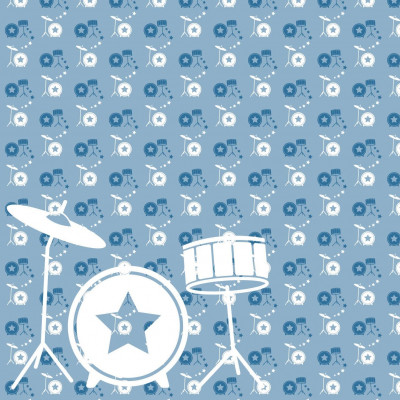 Wallpaper Music with Drum | Blue