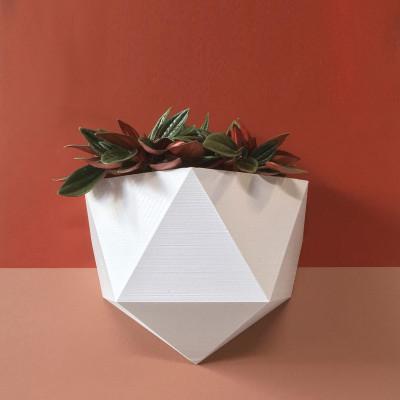 Magnetisches Pflanzgefäß | Weiß