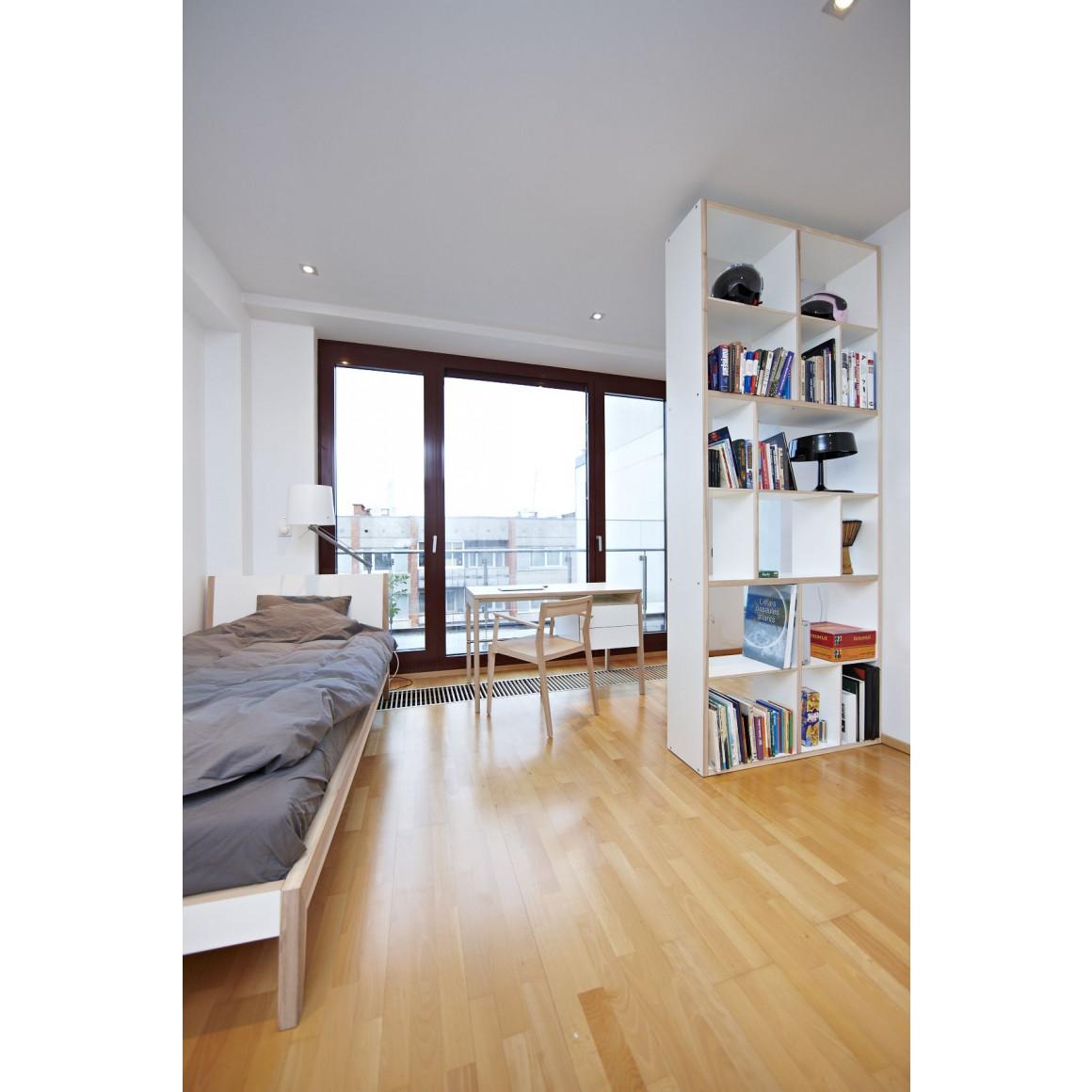 Contemporary solid wood shelf- Medium