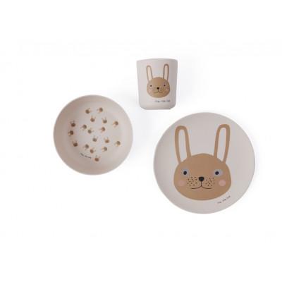 Geschirrset Bambus | Kaninchen