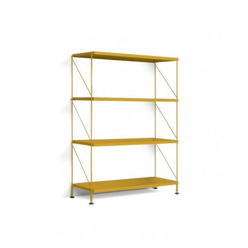 Floor Shelf Tria Pack   Ochre Yellow
