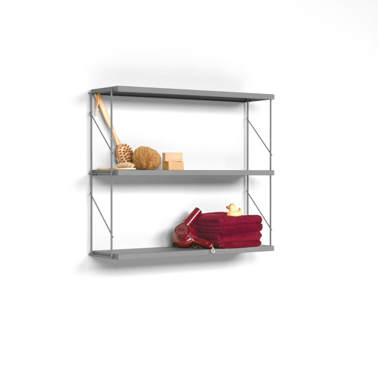 Wall Shelf Tria Pack   Grey