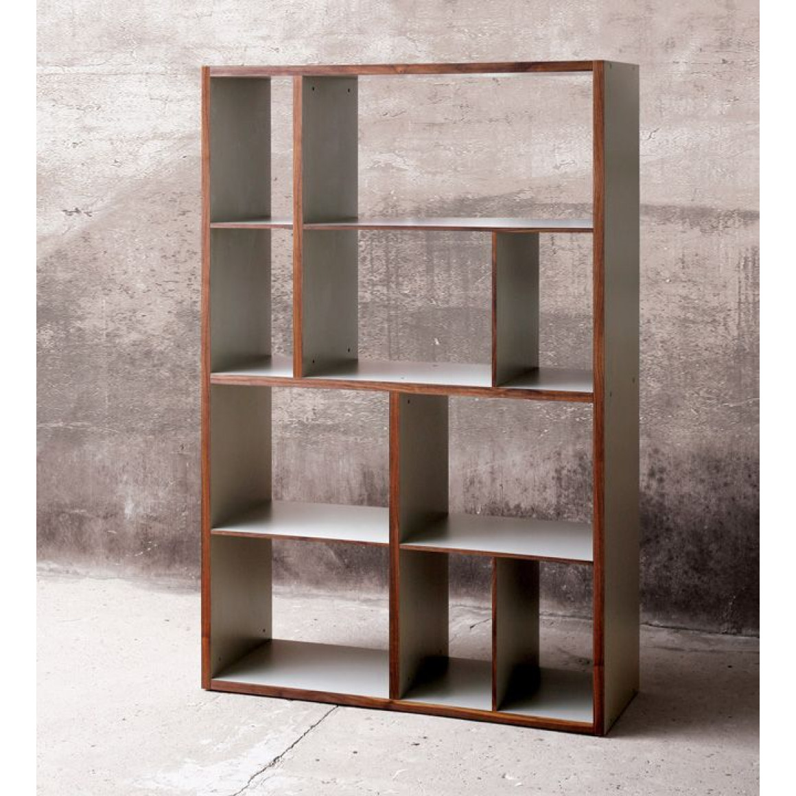 Contemporary solid wood shelf- Large