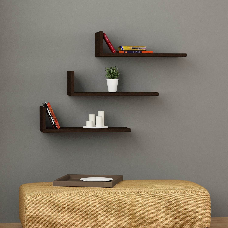 Shelf L-Model Set of 3   Wengé