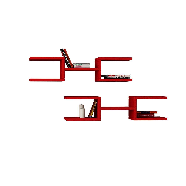 Shelf Crab Set of 2 | Red