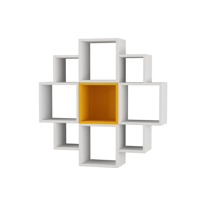 Fiore Shelf | White & Mustard