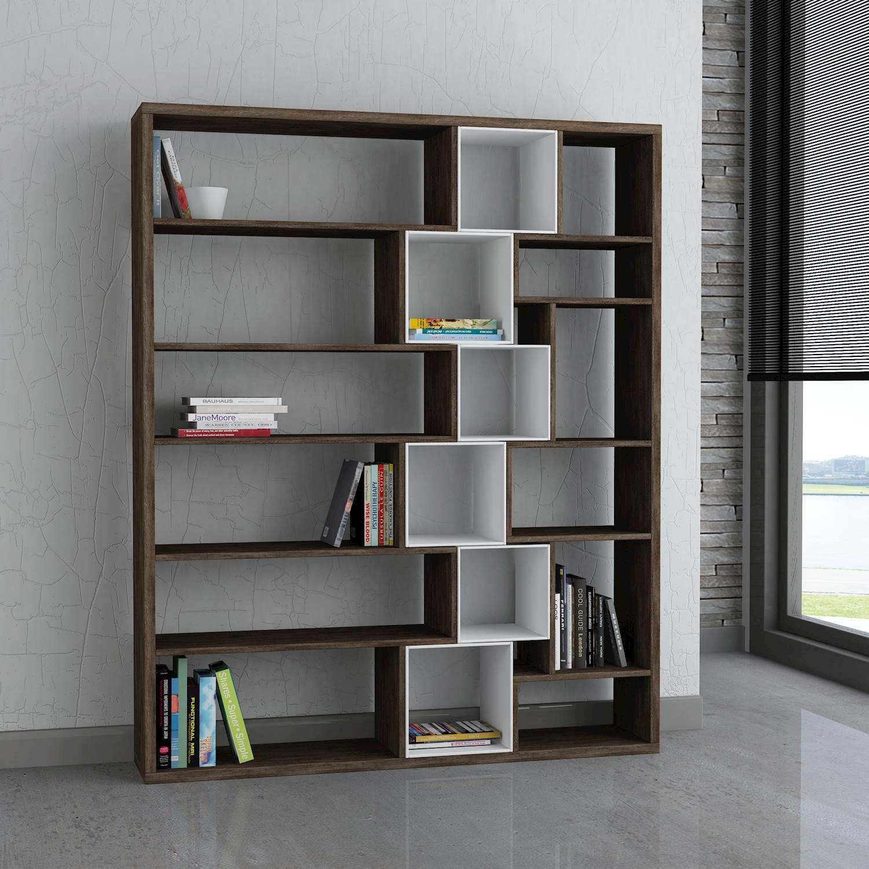Roscoe Book Shelf | Dark Brown / White