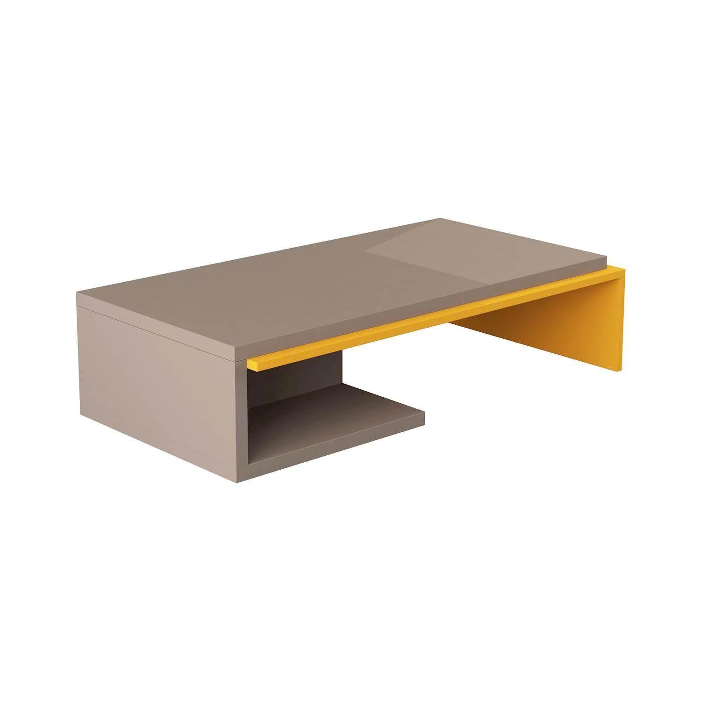Bend Coffee Table | Mocha / Mustard