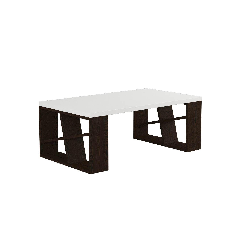 Coffee Table Honey | White & Wengé