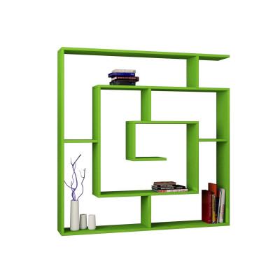Bücherregal Labyrinth   Grün