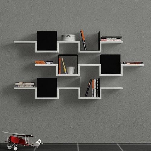 Ales Wall Shelf | White & Black
