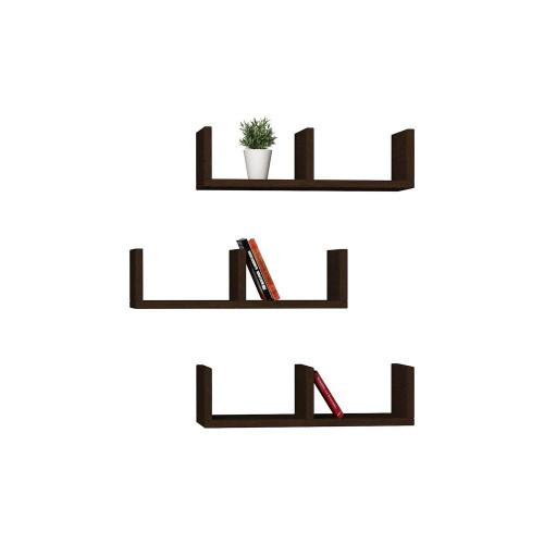 Shelf U-Model Set of 3 | Wengé