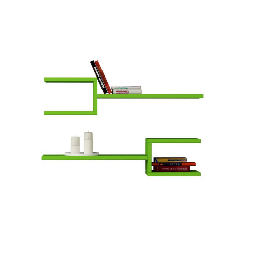 Shelf Marti Set of 2   Green