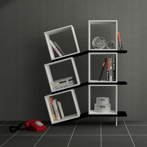 Balanced Book Shelf White / Black