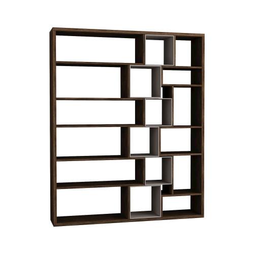 Roscoe Book Shelf | Dark Brown / Light Mocha