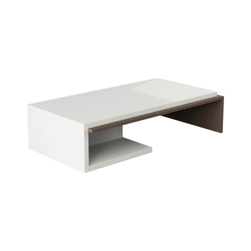 Bend Coffee Table | White / Mocha